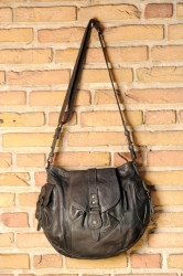 aunts and uncles Walnut Handbag L grey black