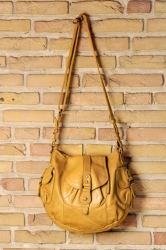 aunts and uncles Walnut Handbag L old yellow