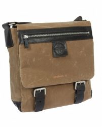 Strellson Waxy Messenger SV sand/ dark brown