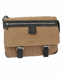 Strellson Waxy Messenger MH sand/ dark brown