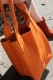 Oakwood Beuteltasche Ledertasche Shopping-Bag orange