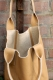 Oakwood Beuteltasche Ledertasche Shopping-Bag beige