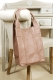 Oakwood Beuteltasche Ledertasche Shopping-Bag rose